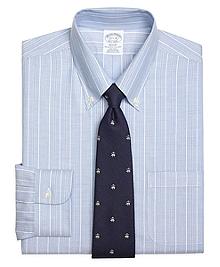 Non-Iron Regent Fit BrooksCool® Alternating Ground Stripe Dress Shirt