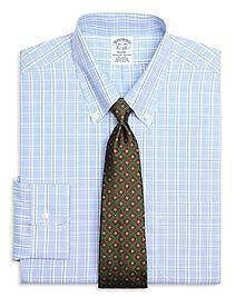Non-Iron Regent Fit Alternating Twin Check Dress Shirt