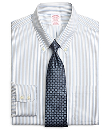 Non-Iron Madison Fit Triple Stripe Dress Shirt