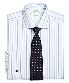 Non-Iron Milano Fit Hairline Framed Triple Stripe French Cuff Dress Shirt