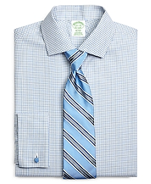 Non-Iron Milano Fit Shadow Check French Cuff Dress Shirt