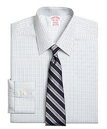Non-Iron Madison Fit Split Check Dress Shirt