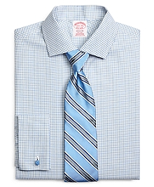 Non-Iron Madison Fit Shadow Check French Cuff Dress Shirt