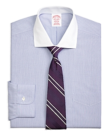 Non-Iron Madison Fit Contrast English Collar Dress Shirt