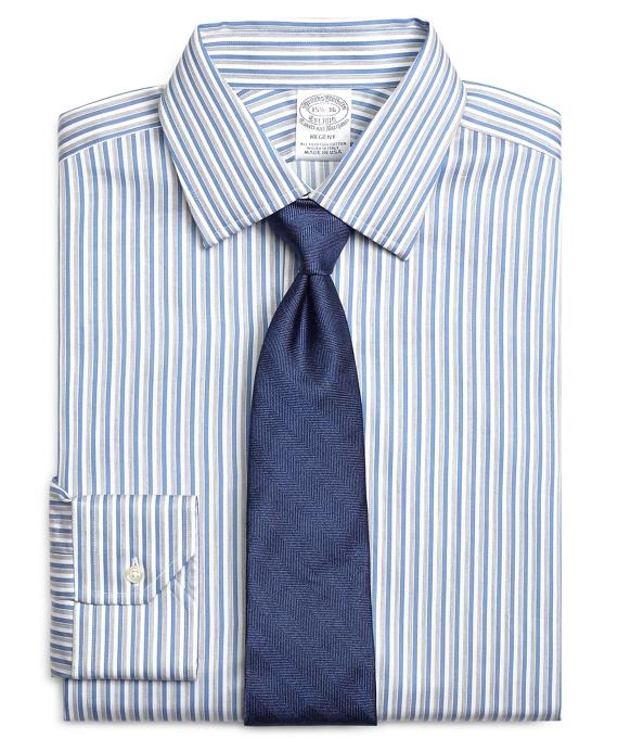 Regent Fit Heathered Twin Stripe Dress Shirt