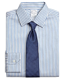 Regent Fit Heathered Twin Stripe Dress Shirt