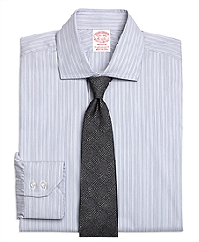 Madison Fit Heathered Frame Stripe Dress Shirt