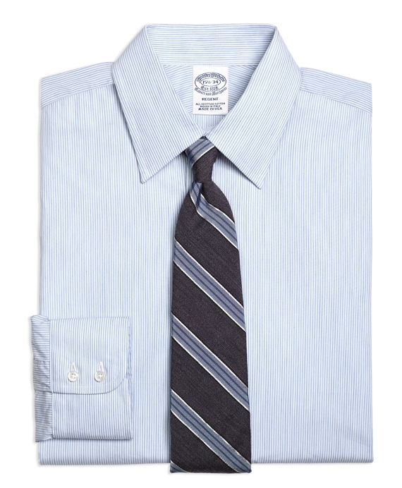 Regent Fitted Dress Shirt, Heathered Candy Stripe