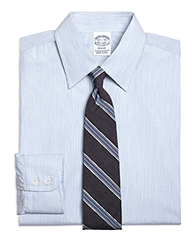 Regent Fit Heathered Candy Stripe Dress Shirt