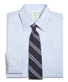 Milano Fit Heathered Candy Stripe Dress Shirt