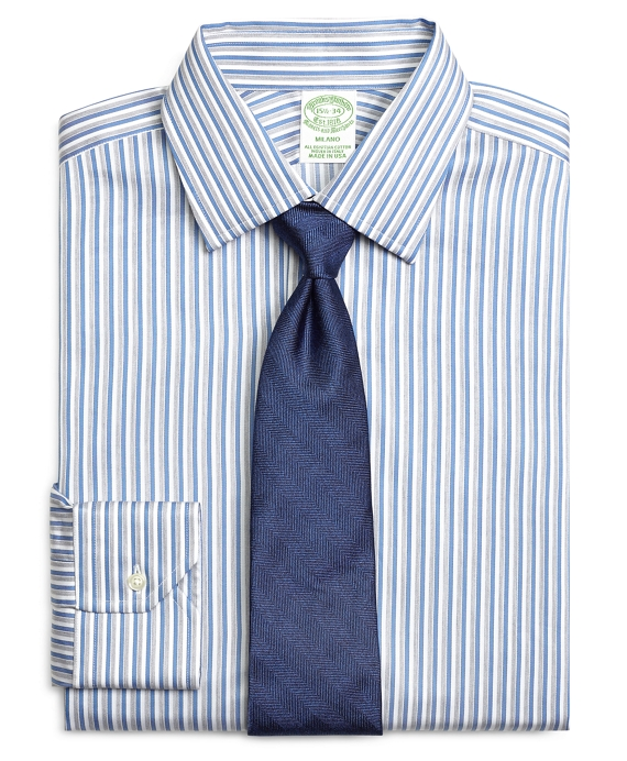 Milano Fit Heathered Twin Stripe Dress Shirt