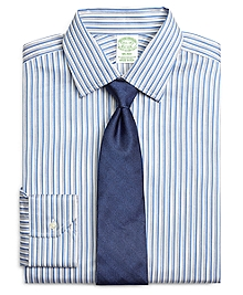 Milano Fit Heathered Twin Stripe Dress Shirt