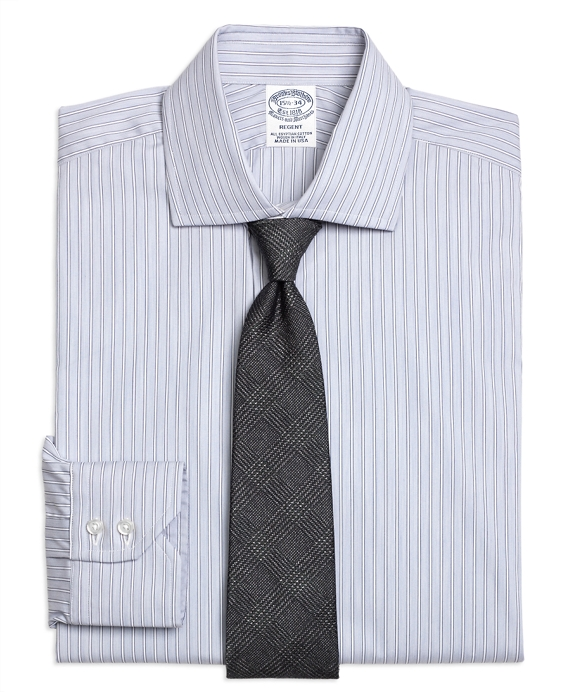 Regent Fitted Dress Shirt, Heathered Frame Stripe