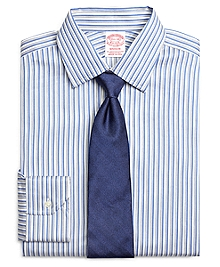 Madison Fit Heathered Twin Stripe Dress Shirt
