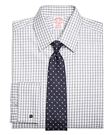Madison Fit Heathered Gingham French Cuff Dress Shirt