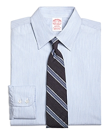 Madison Fit Heathered Candy Stripe Dress Shirt