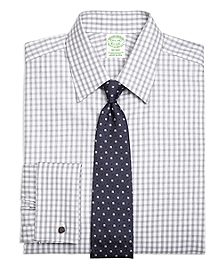 Milano Fit Heathered Gingham French Cuff Dress Shirt