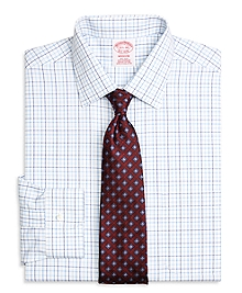 Non-Iron Madison Fit Three-Color Tattersall Dress Shirt
