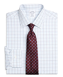 Non-Iron Regent Fit Three-Color Tattersall Dress Shirt