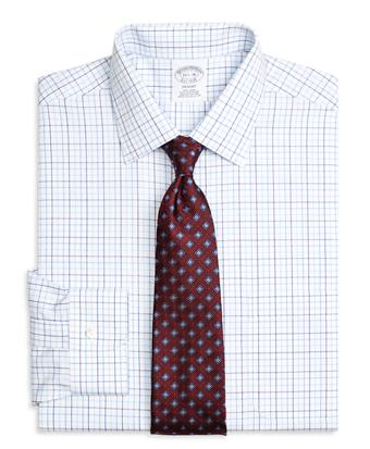 Non-Iron Regent Fit Three-Color Tattersall Dress Shirt