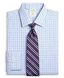 Non-Iron Milano Fit Glen Plaid Overcheck Dress Shirt