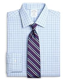 Non-Iron Regent Fit Glen Plaid Overcheck Dress Shirt