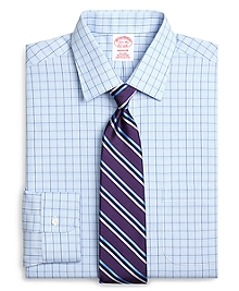 Non-Iron Madison Fit Glen Plaid Overcheck Dress Shirt