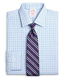 Non-Iron Traditional Fit Glen Plaid Overcheck Dress Shirt