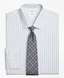 Non-Iron Regent Fit Alternating Stripe Dress Shirt