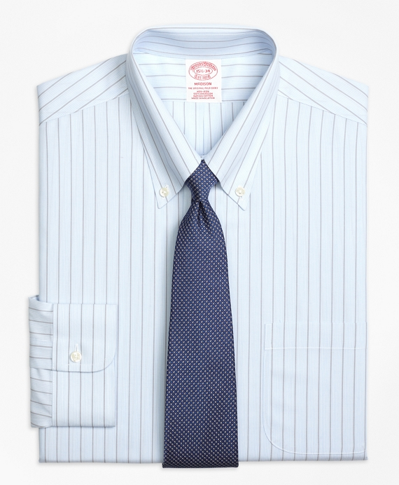 Non-Iron Madison Fit Hairline Bold Stripe Dress Shirt
