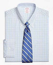 Non-Iron Madison Fit Alternating Tattersall Dress Shirt