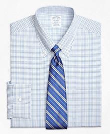 Non-Iron Regent Fit Alternating Tattersall Dress Shirt
