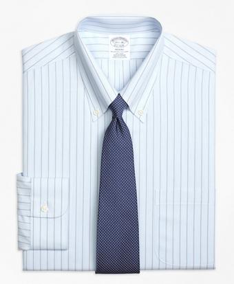 Non-Iron Regent Fit Hairline Bold Stripe Dress Shirt