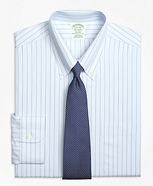 Non-Iron Milano Fit Hairline Bold Stripe Dress Shirt