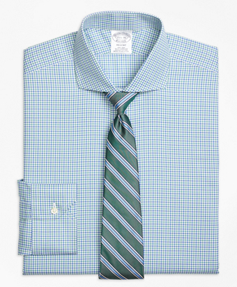 Non-Iron Regent Fit Micro Framed Gingham Dress Shirt