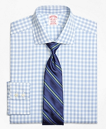 Non-Iron Madison Fit Hairline Framed Check Dress Shirt