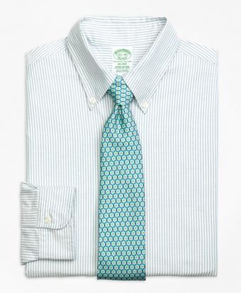 Milano Fit Original Polo® Button-Down Oxford Bengal Stripe Dress Shirt