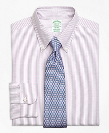 Milano Fit Original Polo® Button-Down Oxford Bengal Stripe Dress Shirt