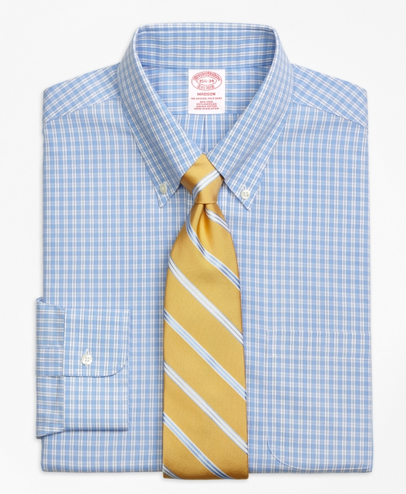 Madison Classic-Fit Dress Shirt, Non-Iron Twin Gingham
