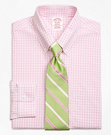 Non-Iron Madison Fit Twin Gingham Dress Shirt