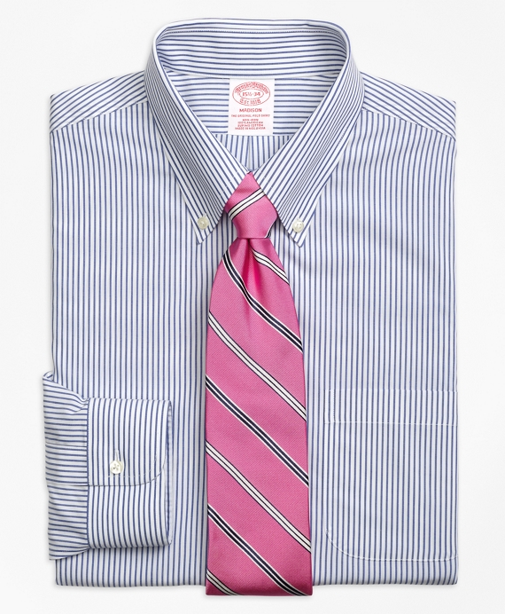 Madison Classic-Fit Dress Shirt, Non-Iron Wide Stripe