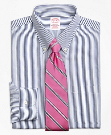 Non-Iron Madison Fit Wide Stripe Dress Shirt