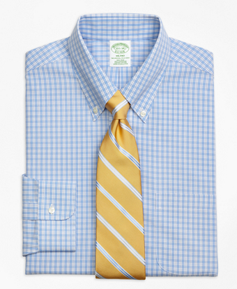 Non-Iron Milano Fit Twin Gingham Dress Shirt
