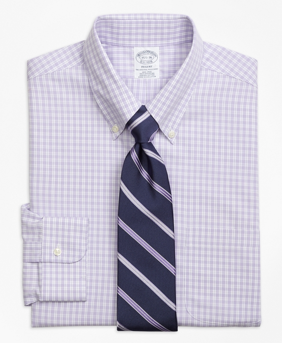 Regent Fitted Dress Shirt, Non-Iron Twin Gingham