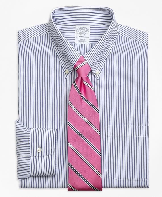 Regent Fitted Dress Shirt, Non-Iron Wide Stripe