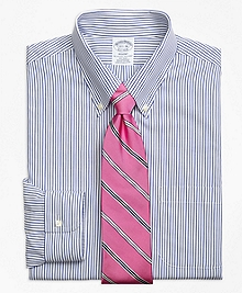 Non-Iron Regent Fit Wide Stripe Dress Shirt