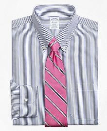Non-Iron Regent Fit Wide Stripe Dress Shirt