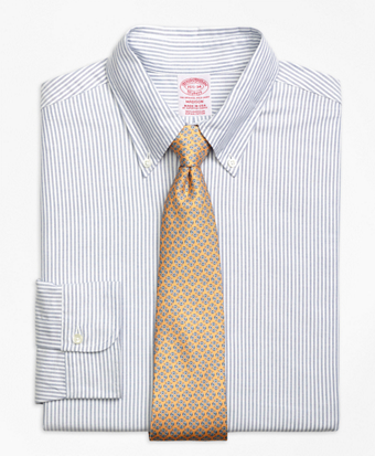 Madison Fit Original Polo® Button-Down Oxford Bengal Stripe Dress Shirt