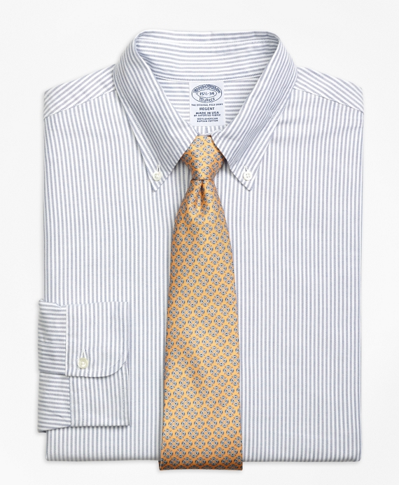 Regent Fit Original Polo® Button-Down Oxford Bengal Stripe Dress Shirt