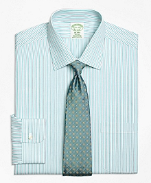 Non-Iron Milano Fit Split Stripe Dress Shirt
